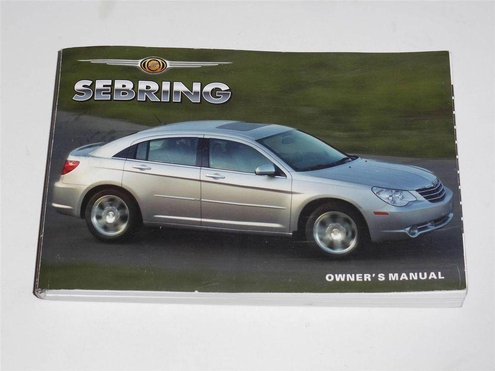 2007 Chrysler Sebring Owners Manual Book Owners Manuals Chrysler Sebring Chrysler