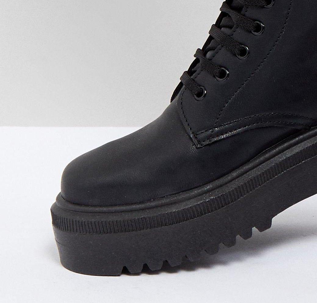 aa8609c9b8dd ASOS DESIGN   ASOS ATTITUDE Chunky Lace Up Boots   Wish List ...
