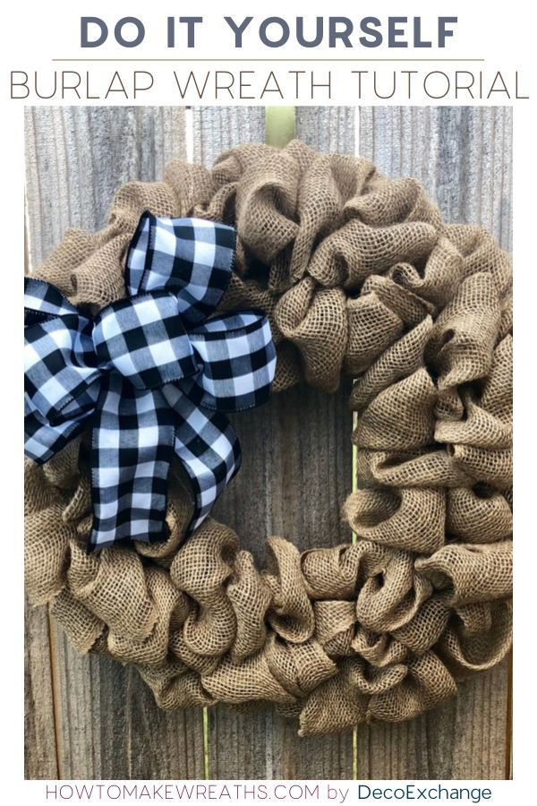 Photo of Learn how to make a simple burlap wreath to make your home for everyone …