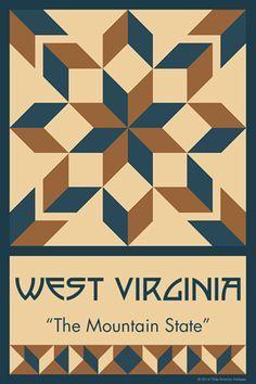 Olde America Antiques | Quilt Blocks | National Parks | Bozeman Montana : 50 STATE QUILT BLOCK SERIES - WEST VIRGINIA