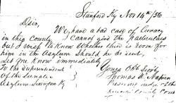 Pre 1800 letters to Eastern State Hospital