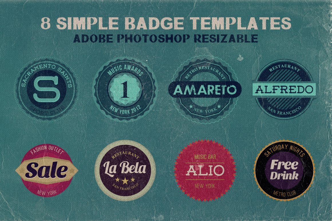 8 Simple Badge Templates Badge Template Vintage Logo Free Badges
