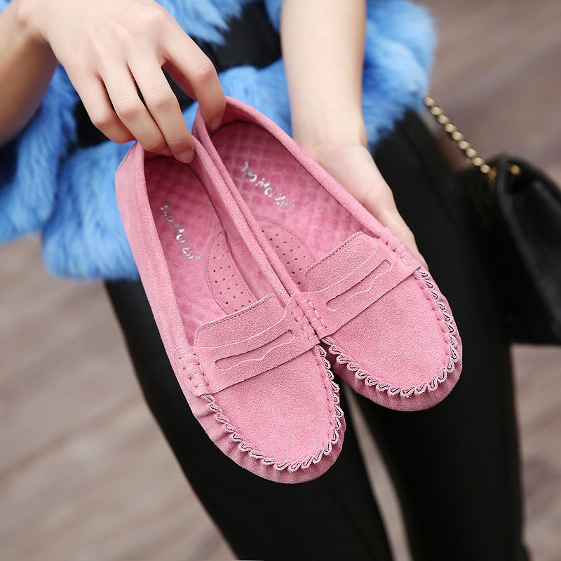 Cheap Loafers on Sale at Bargain Price, Buy Quality Loafers from China Loafers Suppliers at Aliexpress.com:1,Pattern Type:Solid 2,Item Type:Flats 3,opening depth:shallow mouth 4,Upper Material:Genuine Leather 5,Insole Material:Rubber