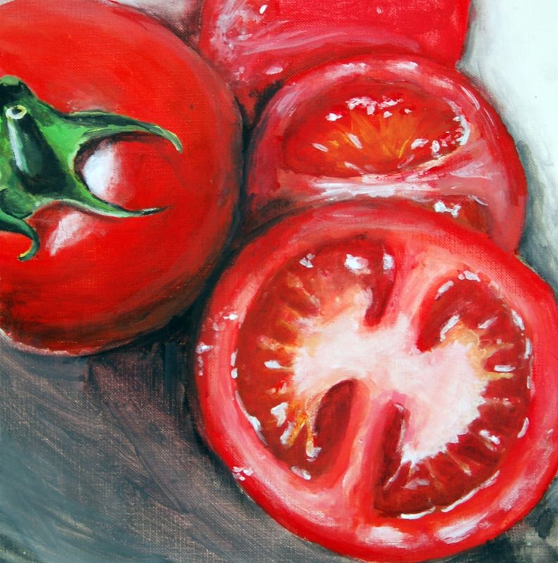 Tomatoes Vegetable Painting Fruit Painting Fruit Art