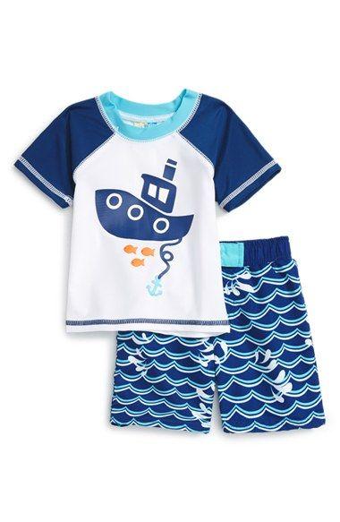 Ihram Kids For Sale Dubai: Sol Swim Two-Piece Rashguard Swimsuit (Baby Boys)