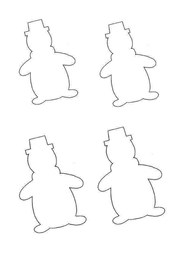 Patron de bonhomme de neige imprimer kal plar pinterest - Bonhomme de neige a imprimer gratuit ...