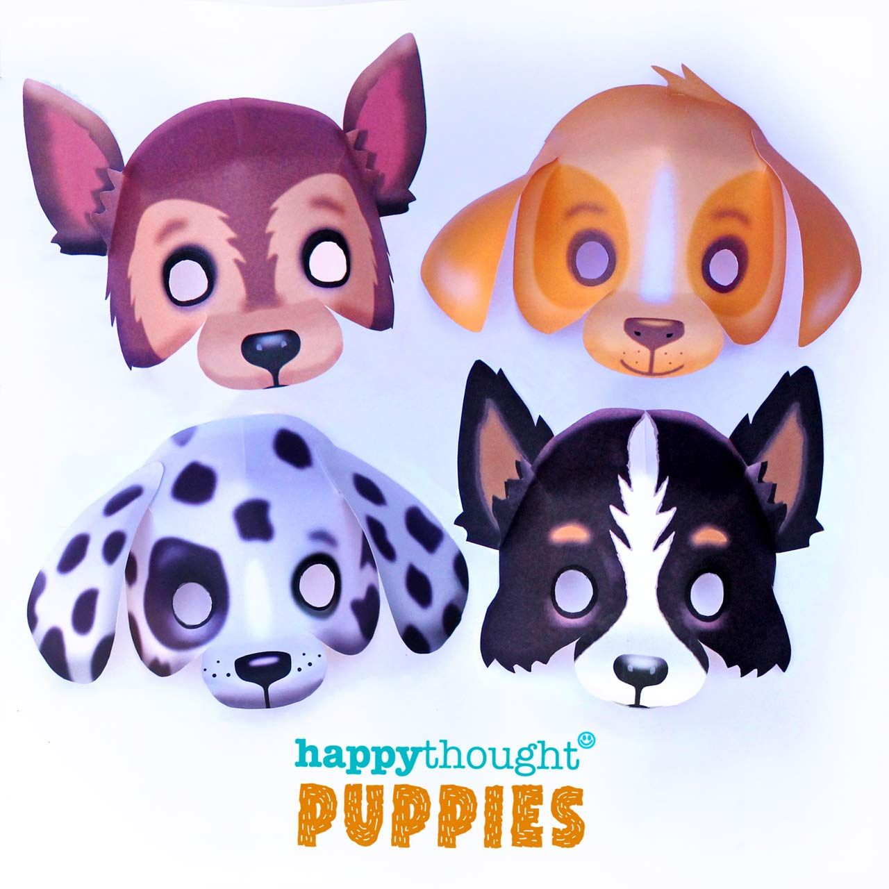 Quick And Easy Printable Puppy Masks To Make