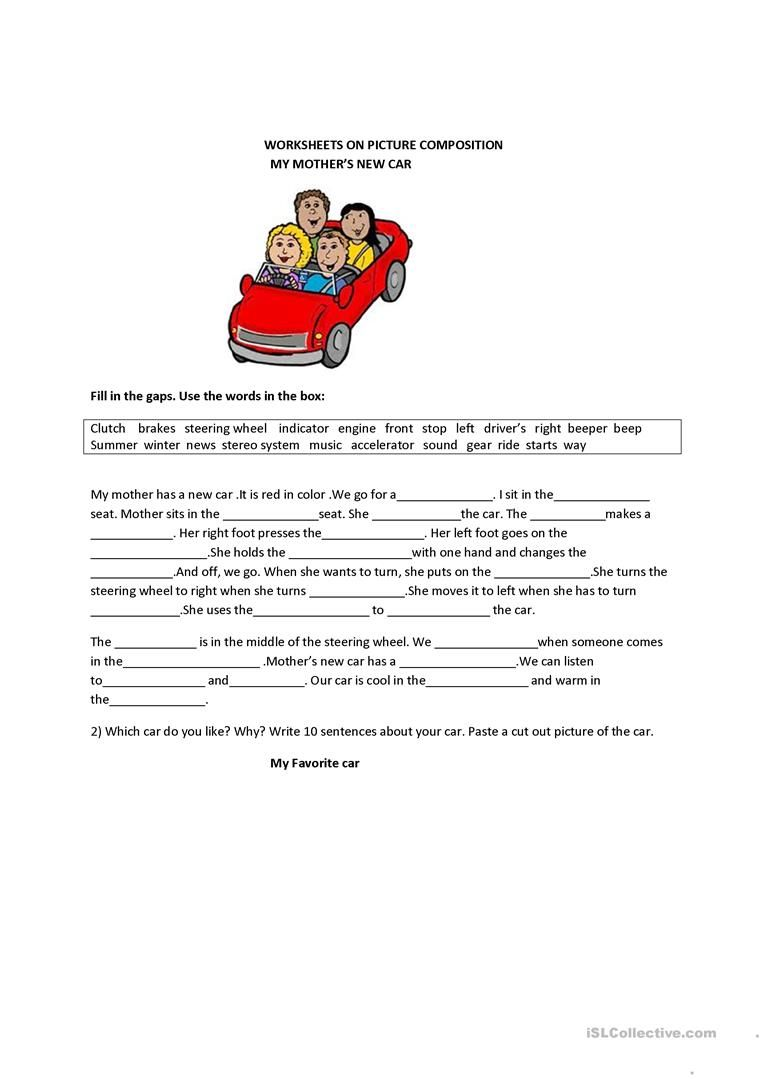 Picture Composition Worksheet Free Esl Printable Worksheets Made By Teachers Picture Composition English Writing Skills Composition Writing