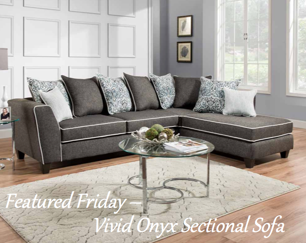 Featured Friday Vivid Onyx Sectional Sofa Couches Living Room