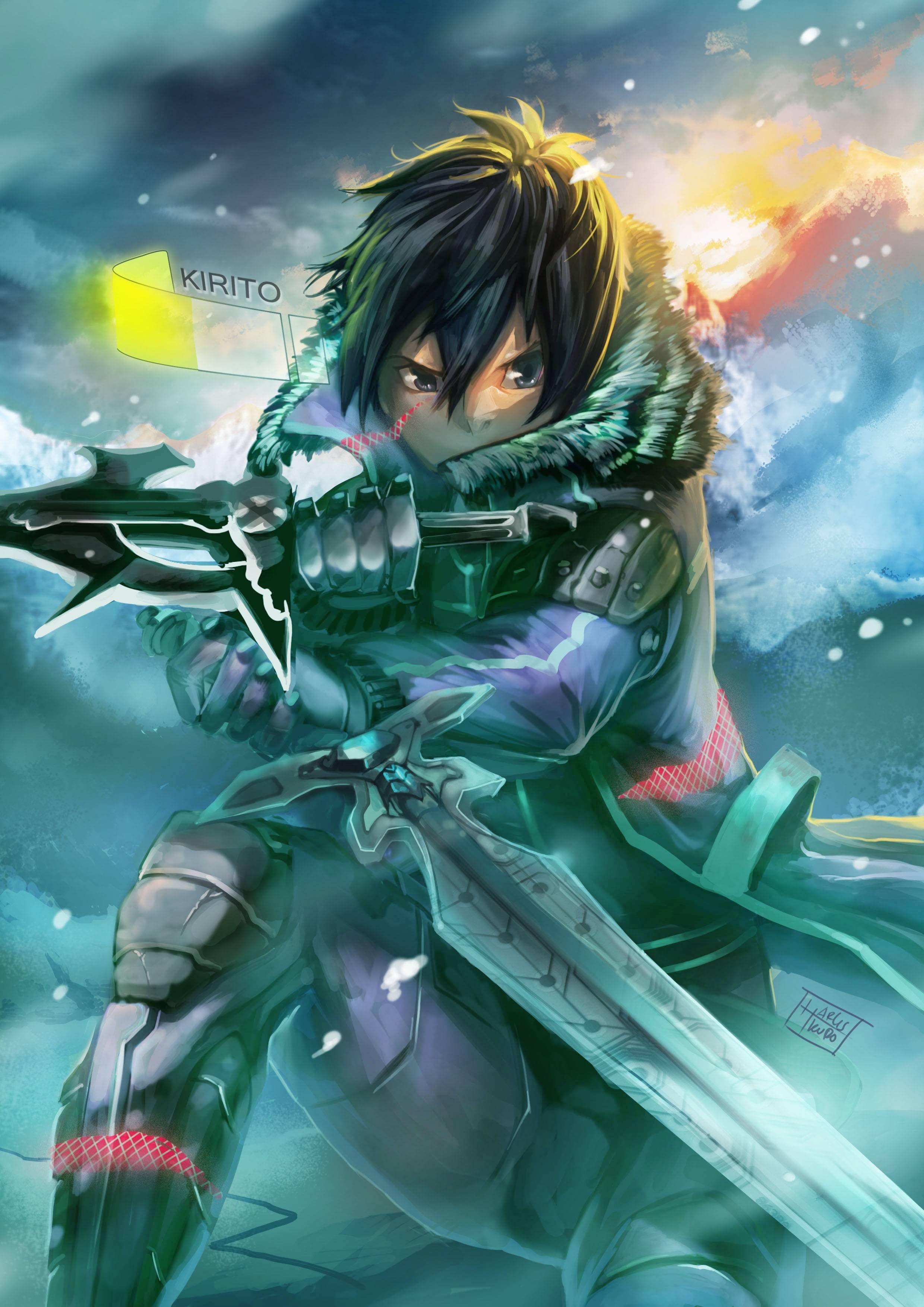 Imgur Post Imgur Sword Art Online Wallpaper Sword Art Online Kirito Sword Art Epic anime fanart wallpaper