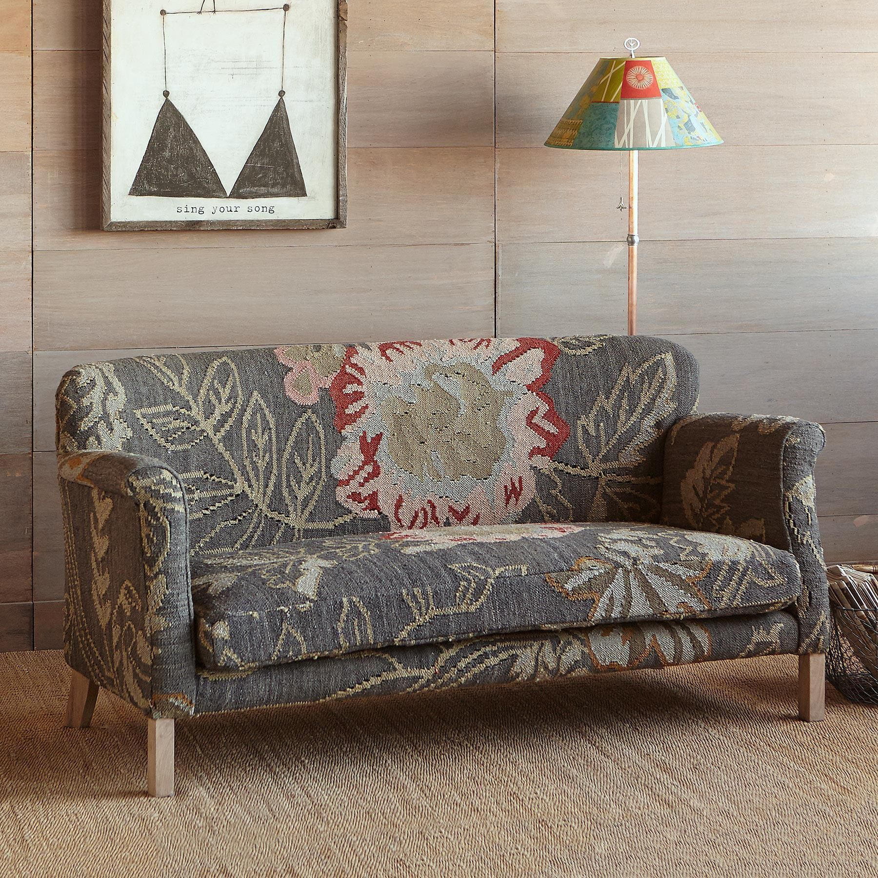 MOON GARDEN KILIM LOVESEAT Enjoy the unique beauty of our
