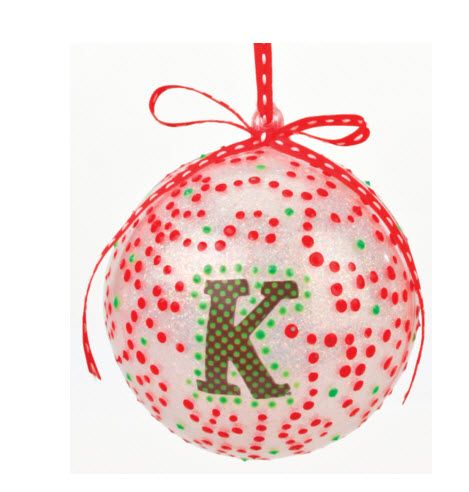 nicole crafts alphabet letter bubble ball ornaments craft christmas