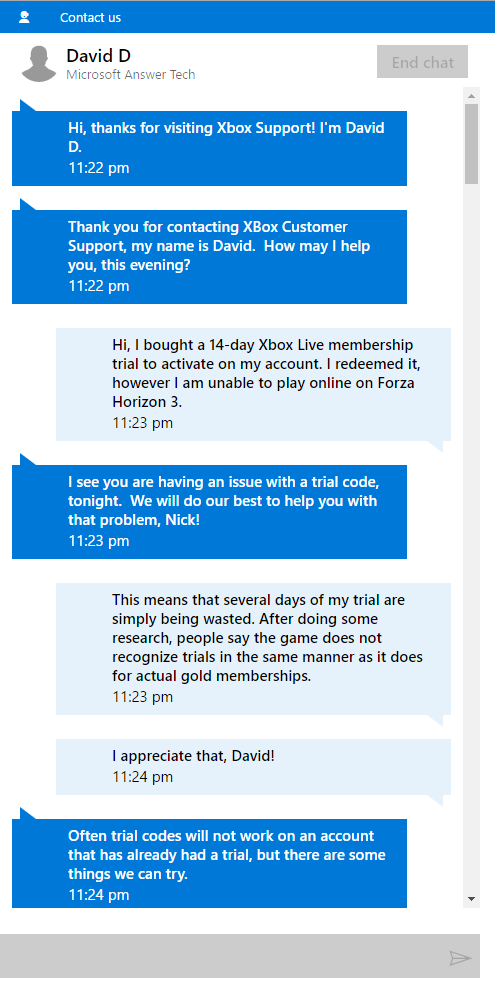 Xbox Support Chat öffnungszeiten