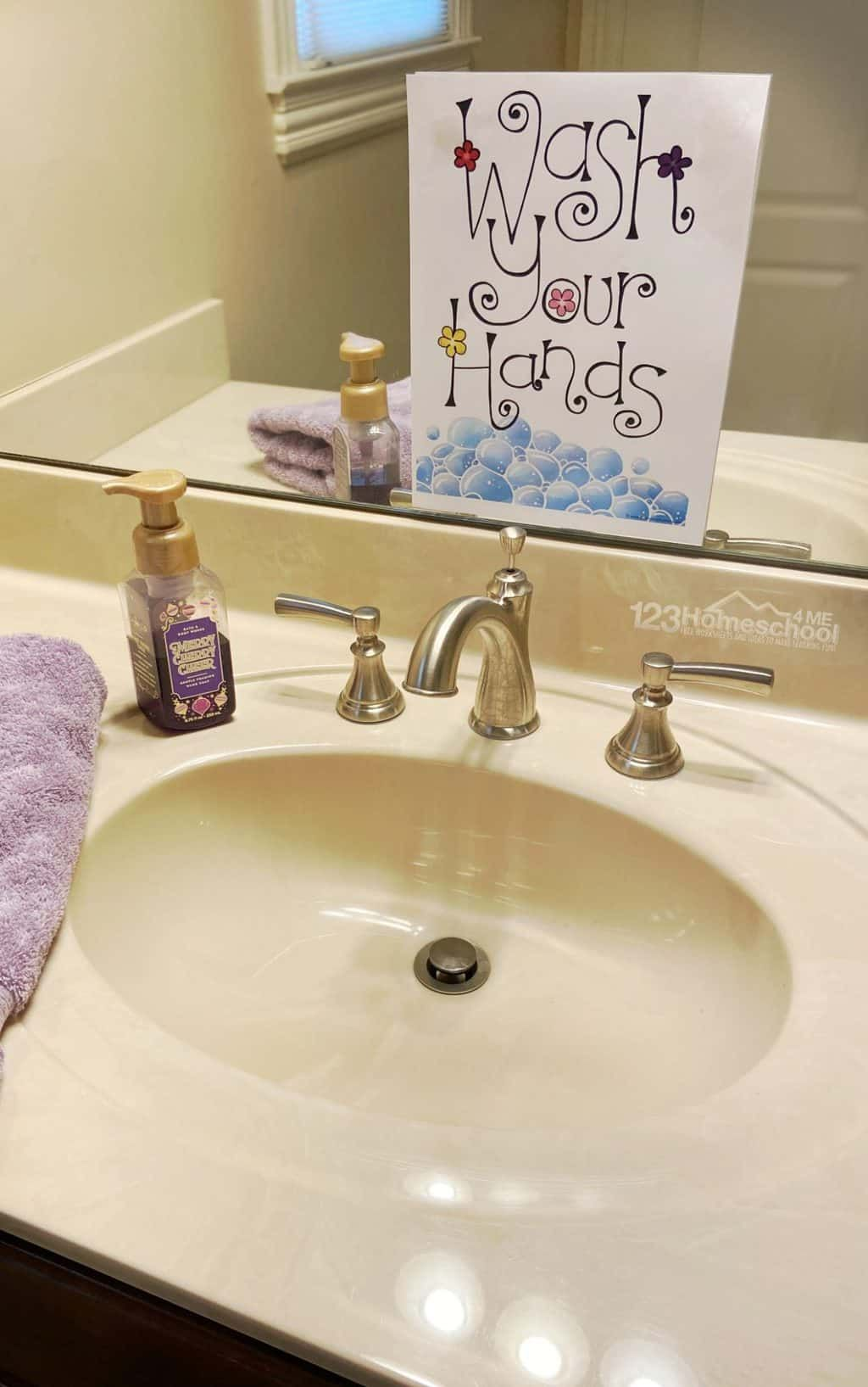 20 Free Hand Washing Signs For Kids In