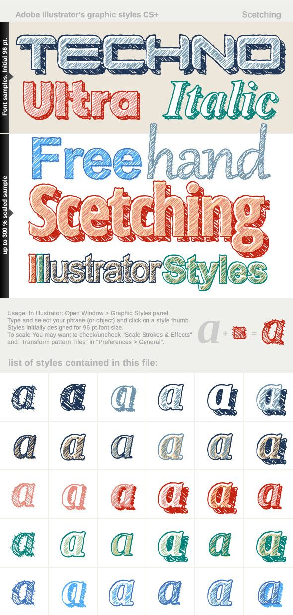Adobe Illustrator Styles - Sketching  • Only available here! → https://graphicriver.net/item/adobe-illustrator-styles-scetching/17296083?ref=pxcr