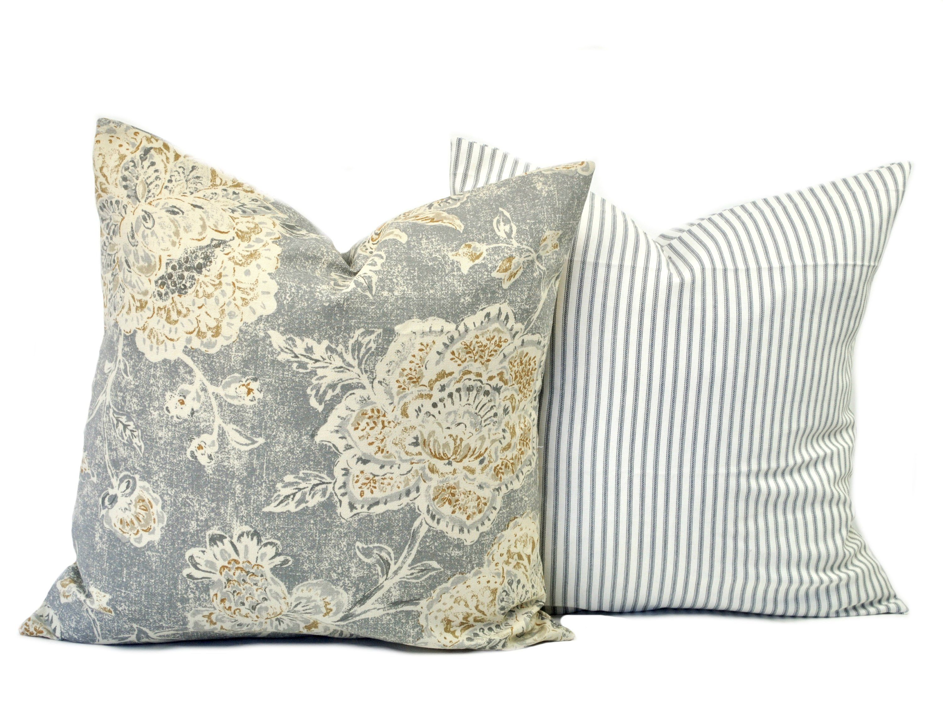 Two High Quality Magnolia Pillow Covers Slate Grey Pillow Etsy Magnolia Pillow Grey Pillows Tan Pillows