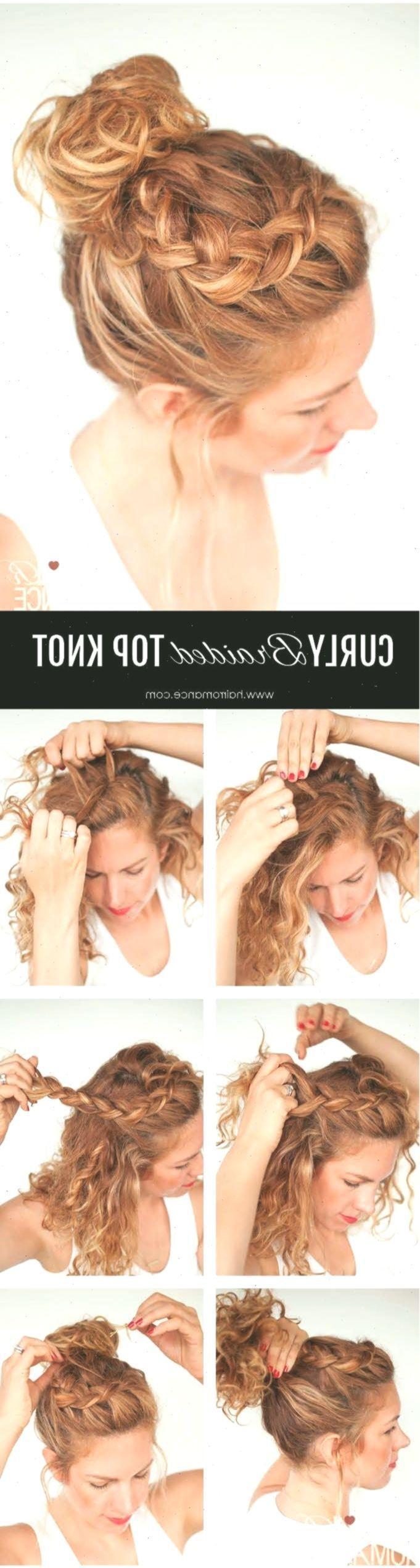 Tägliche lockige Frisuren – lockiges geflochtenes Haarknoten-Frisur-Tutorial – …