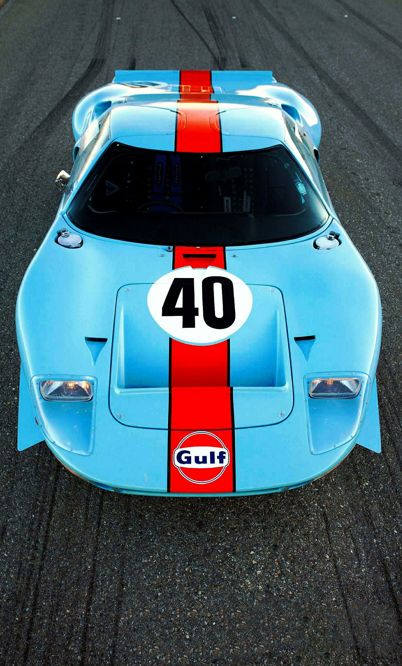 1968 Ford Gt40 In Gulf Livery Image Enhancements Are By Vonmonski