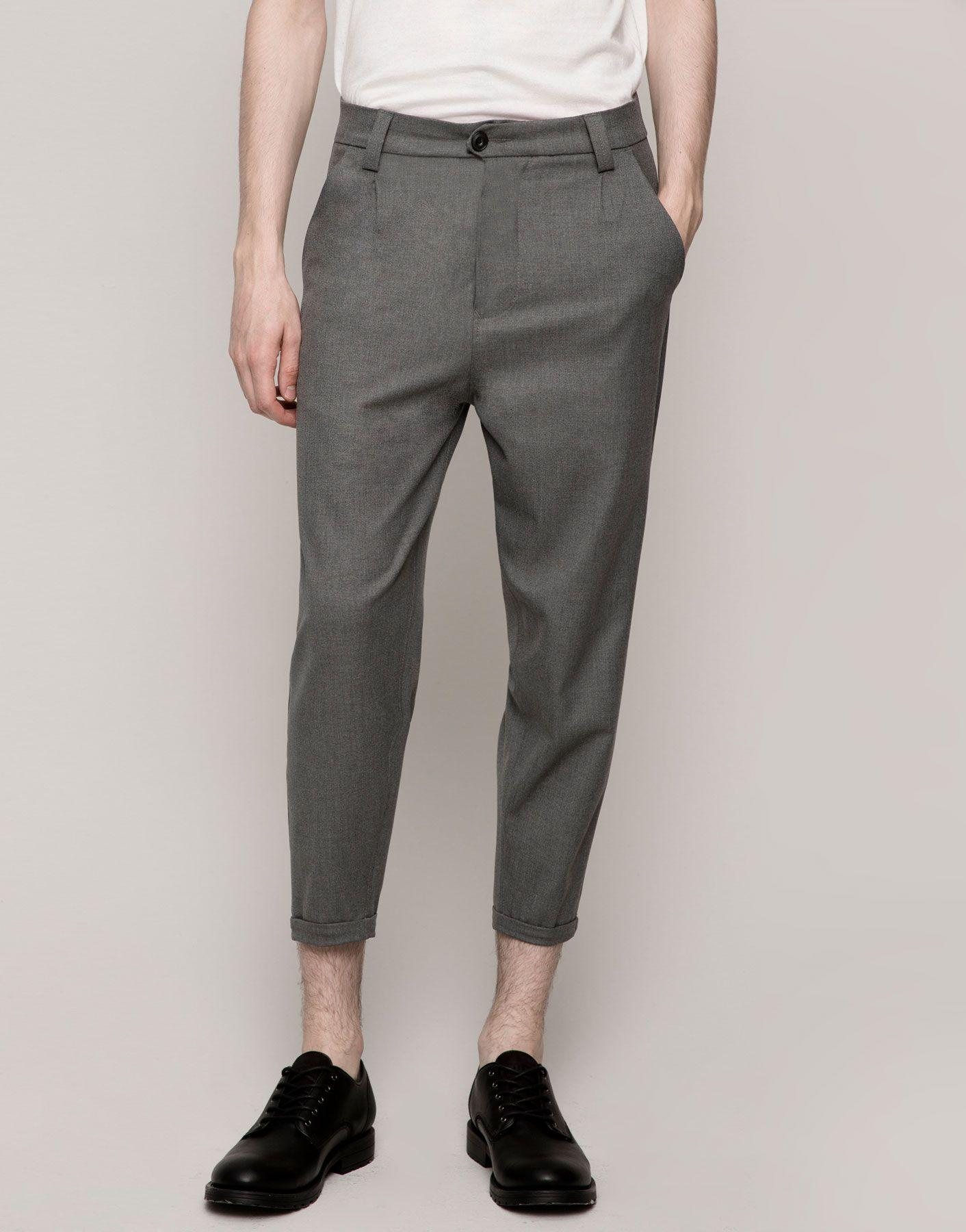 Pantalon Tipo Chino Vestir Jeans Hombre Pull Bear Espana Ropa De Hombre Pantalones De Vestir Hombre Pantalones De Hombre Moda
