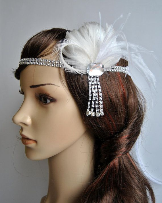 1920s Bandeau Petal Headband The Great Gatsby Headband 1920s Headpiece Flapper