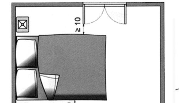 Plan chambre o mettre le lit dans la chambre chambre pinterest - Ou mettre son lit dans une chambre ...