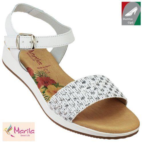 dce166acf1 Marila női bőr szandál 1011/ES-61 fehér | Dumtsa Cipő | Pinterest ...