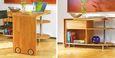 Bauplan: Sideboard mit drehbarem Tisch selbst bauen