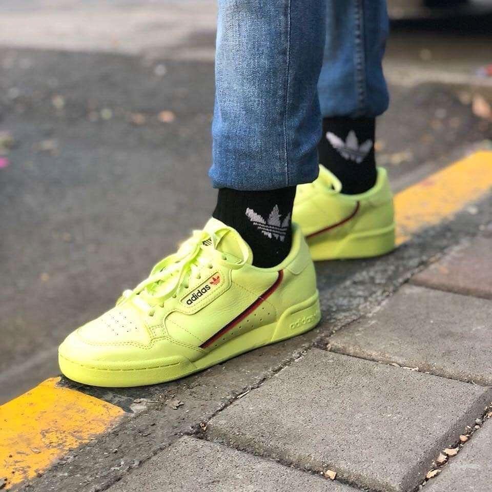 Yellow sneakers, Adidas originals