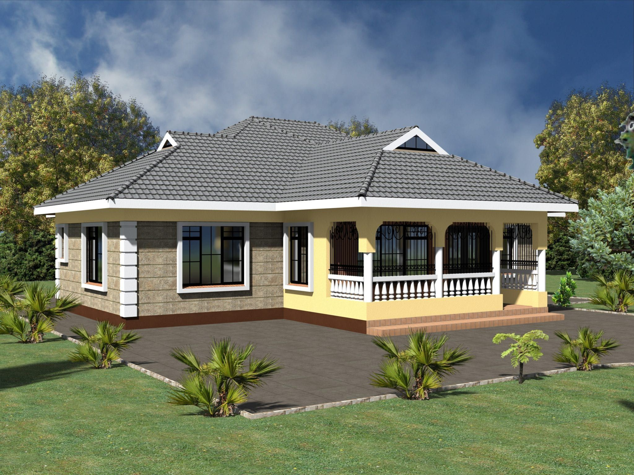 Simple 3 Bedroom House Plans Without Garage Hpd Consult House Designs In Kenya Modern Bungalow House Bungalow House Design