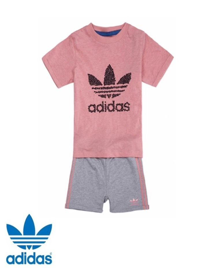 39fca6f5 adidas originals baby girl infants T shirt shorts set Perfect gift BNWT  free del