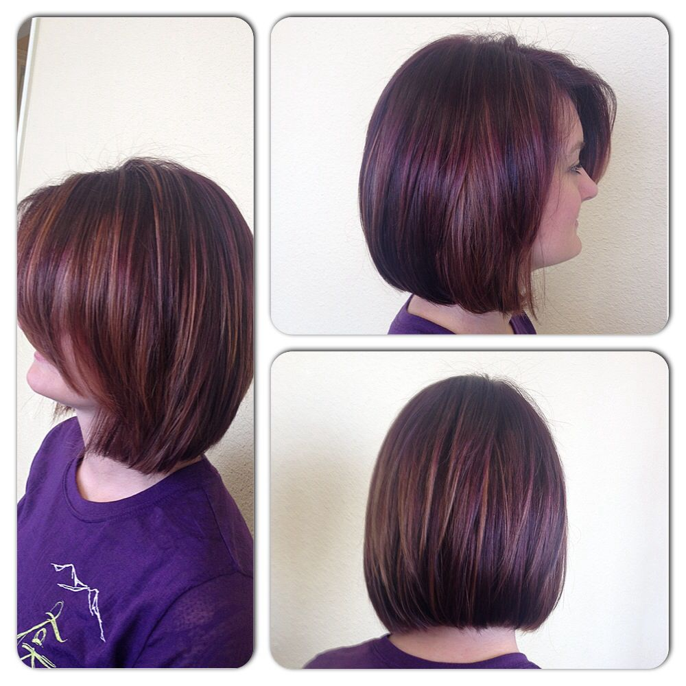 Purple And Copper Highlights Peekaboo Highlights Maroon Hair