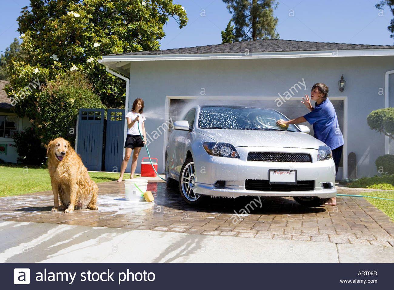 Washing Car In Driveway Google Search Car Wash Car Ins Car