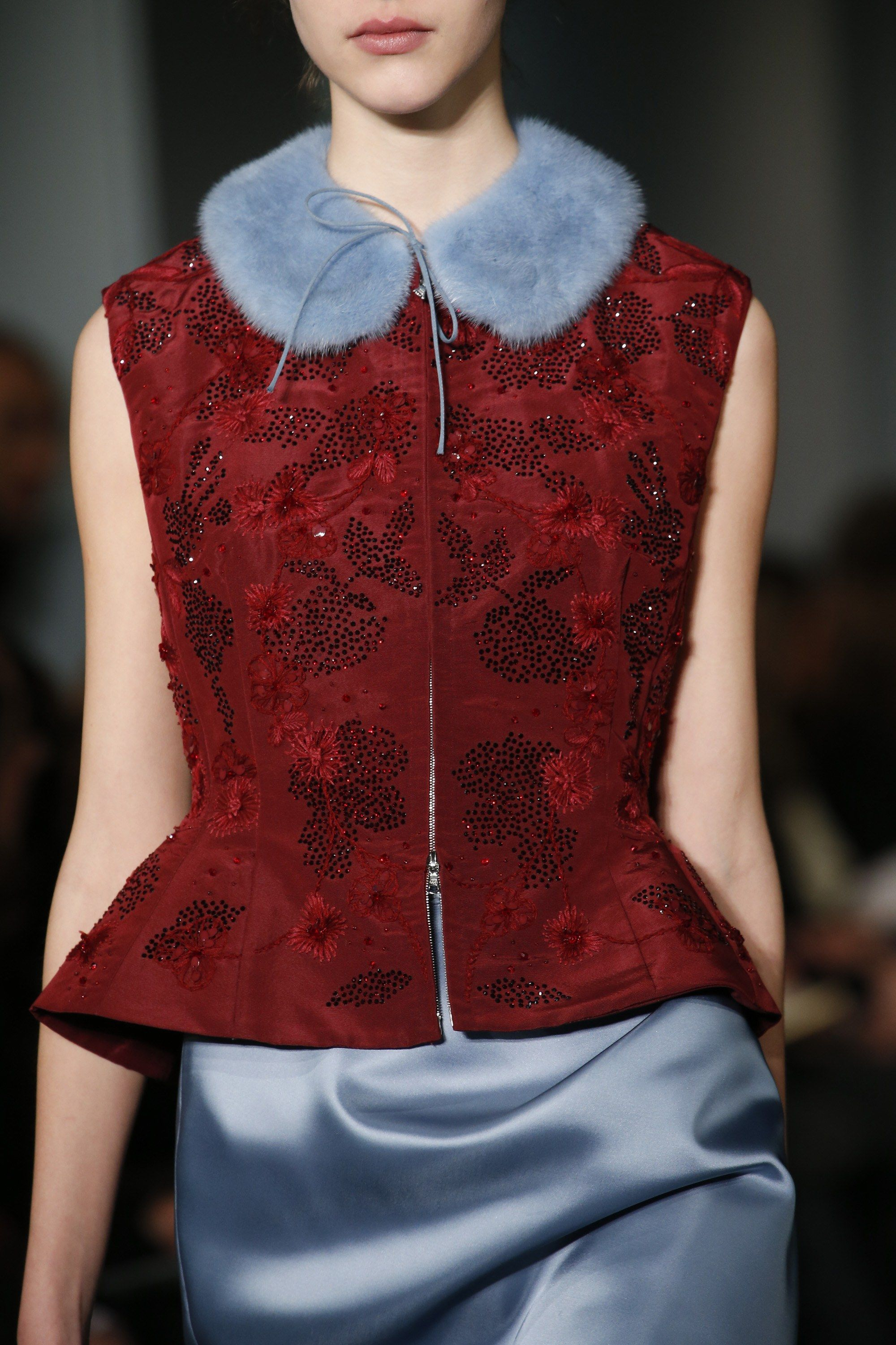 Oh bordeaux! High fashion inspiration from Oscar de la Renta's Fall 2016 fashion collection.