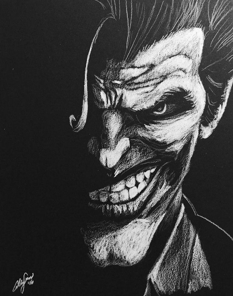 The joker black and white by allengrimes on deviantart