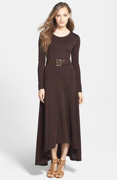 High low maxi dress with belt