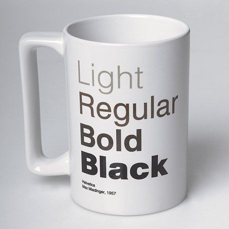 Superb Veer Is Selling A Cool Helvetica Coffee Mug, A Convergence Of Good Taste.  From The Product Page: Coffee, Like Helvetica, Is An Acquired Taste.