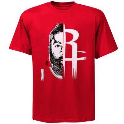 c177826643b4 Majestic James Harden Houston Rockets GameFace T-Shirt - Red ...