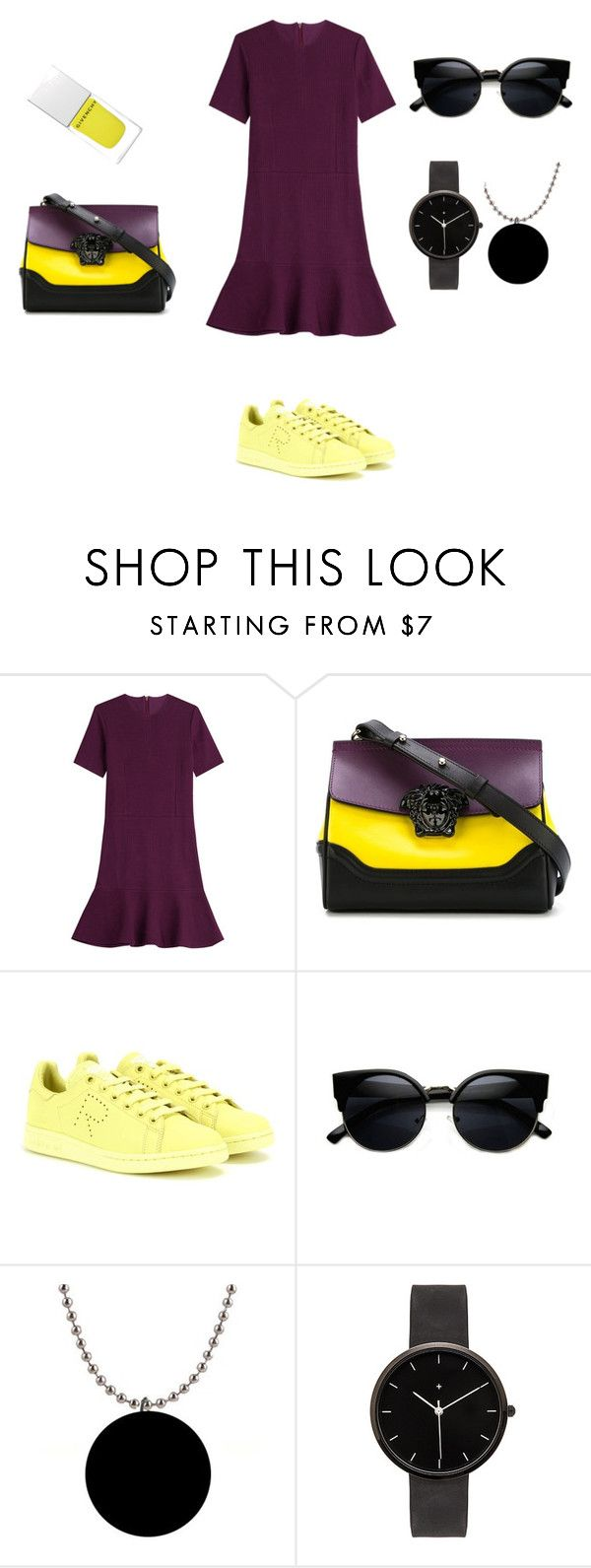 """""""Комплементарная схема 2"""" by natigal ❤ liked on Polyvore featuring Carven, Versace, adidas, I Love Ugly and Givenchy"""