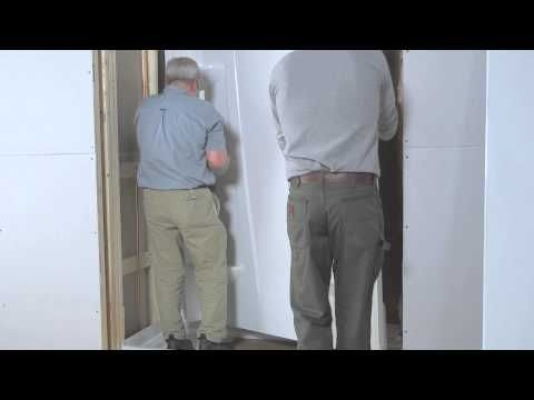 installing a direct-to-stud shower enclosure at the home