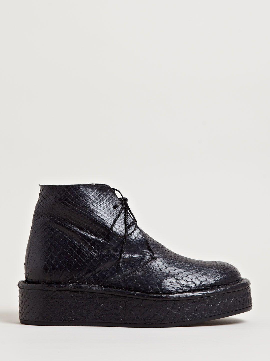 Barny Nakhle Women's Python Hi-Top Platform Shoes