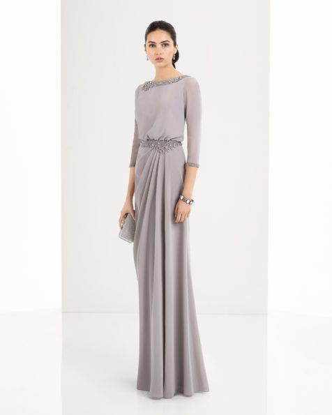 2e261d13e0 Vestido de georgette y encaje pedreria disponible en