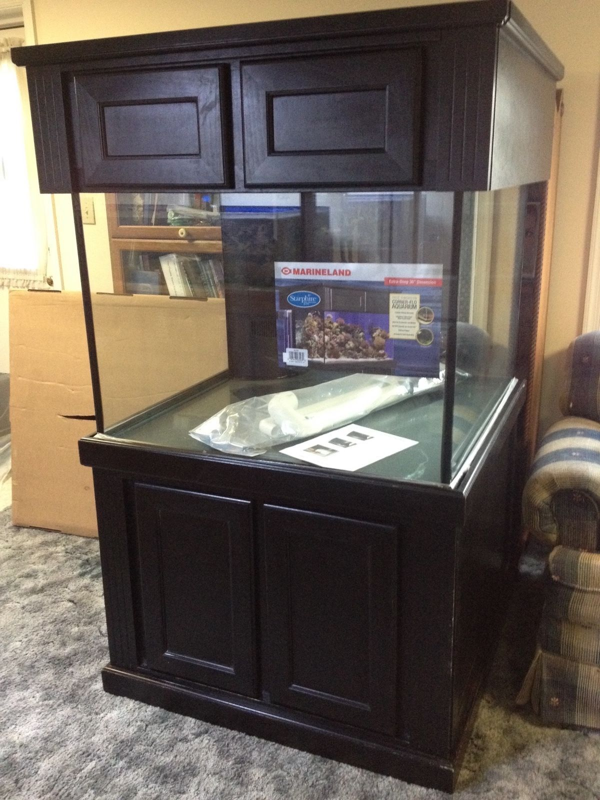 MarineLand 150 Gal Aquarium with overflow and Starphire glass Fish
