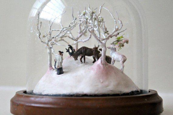 Miniature Diorama Fantasy Fairy tale Micro World Glass Dome Tiny
