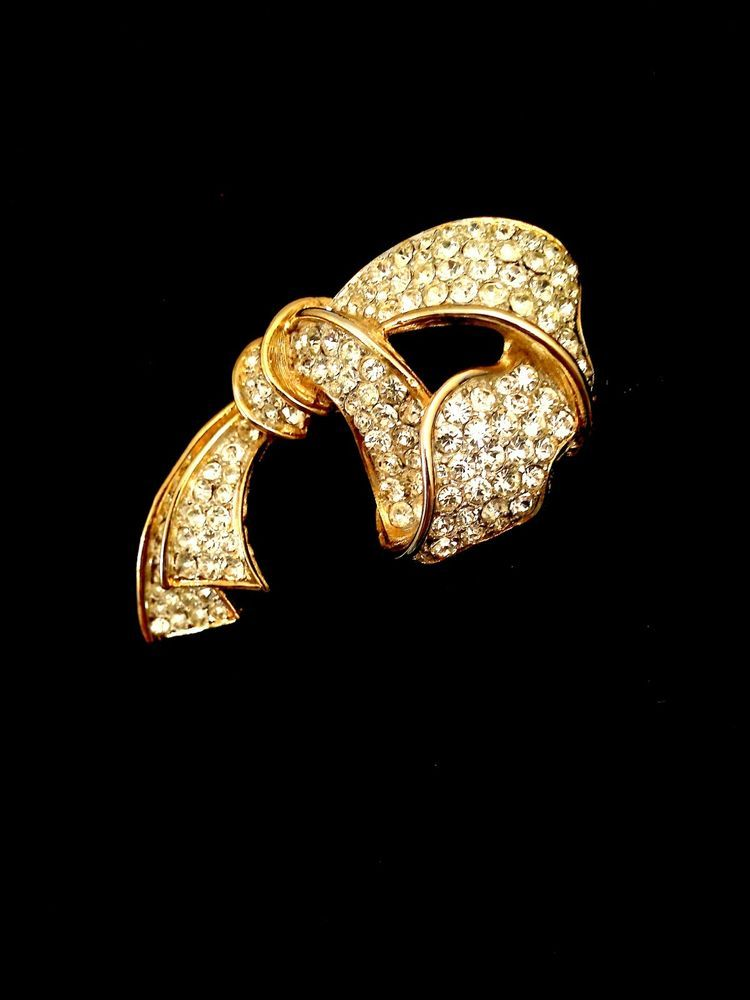 Kenneth Jay Lane Crystal Bow Ribbon Pin Silver/ruby/crystal 4LJzbMpHoX