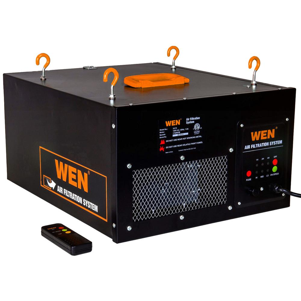 WEN 3Speed RemoteControlled Air Filtration System (300