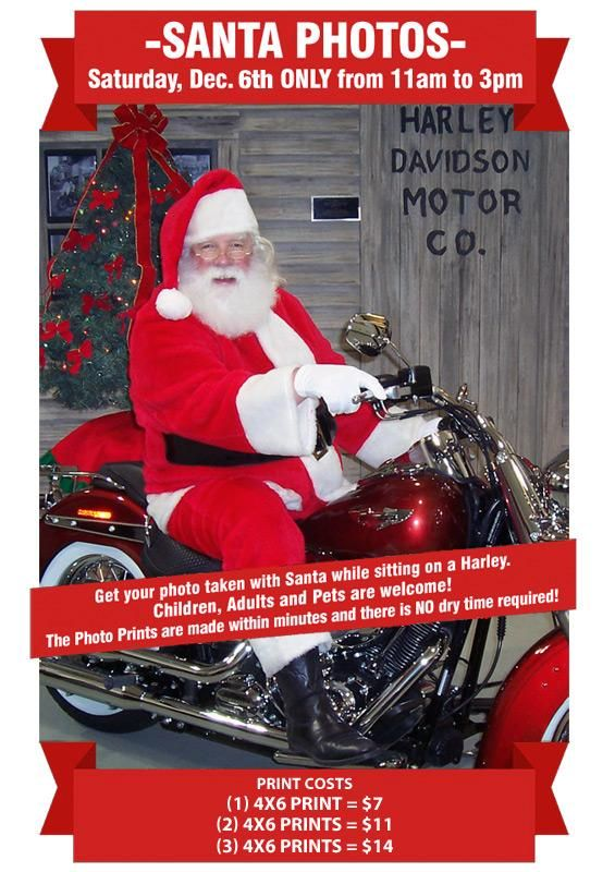 Photos with Santa at Indianapolis Southside Harley-Davidson