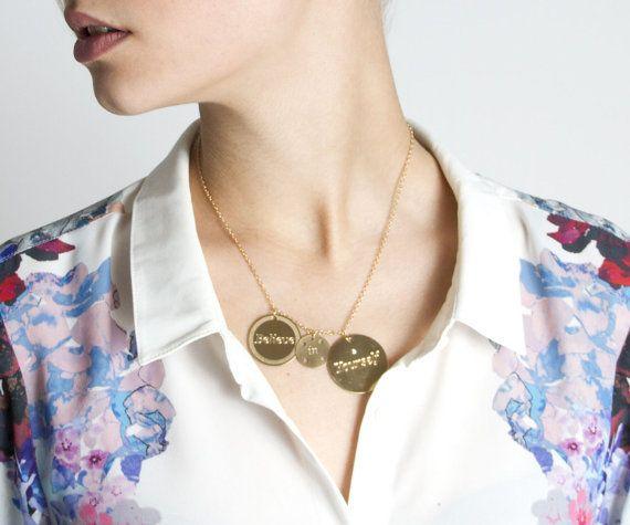 Glaube an Dich selbst Halskette Schmuck mit Zitaten