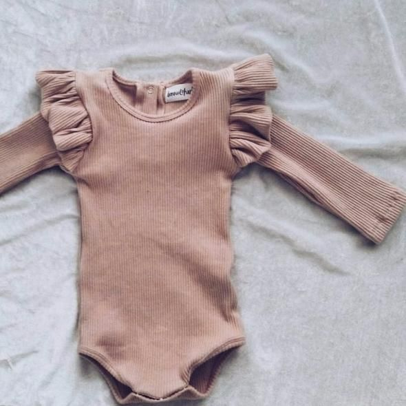 Photo of Owligbaby 2018 new autumn lotus leaf long sleeve knitted baby girl triangle romper
