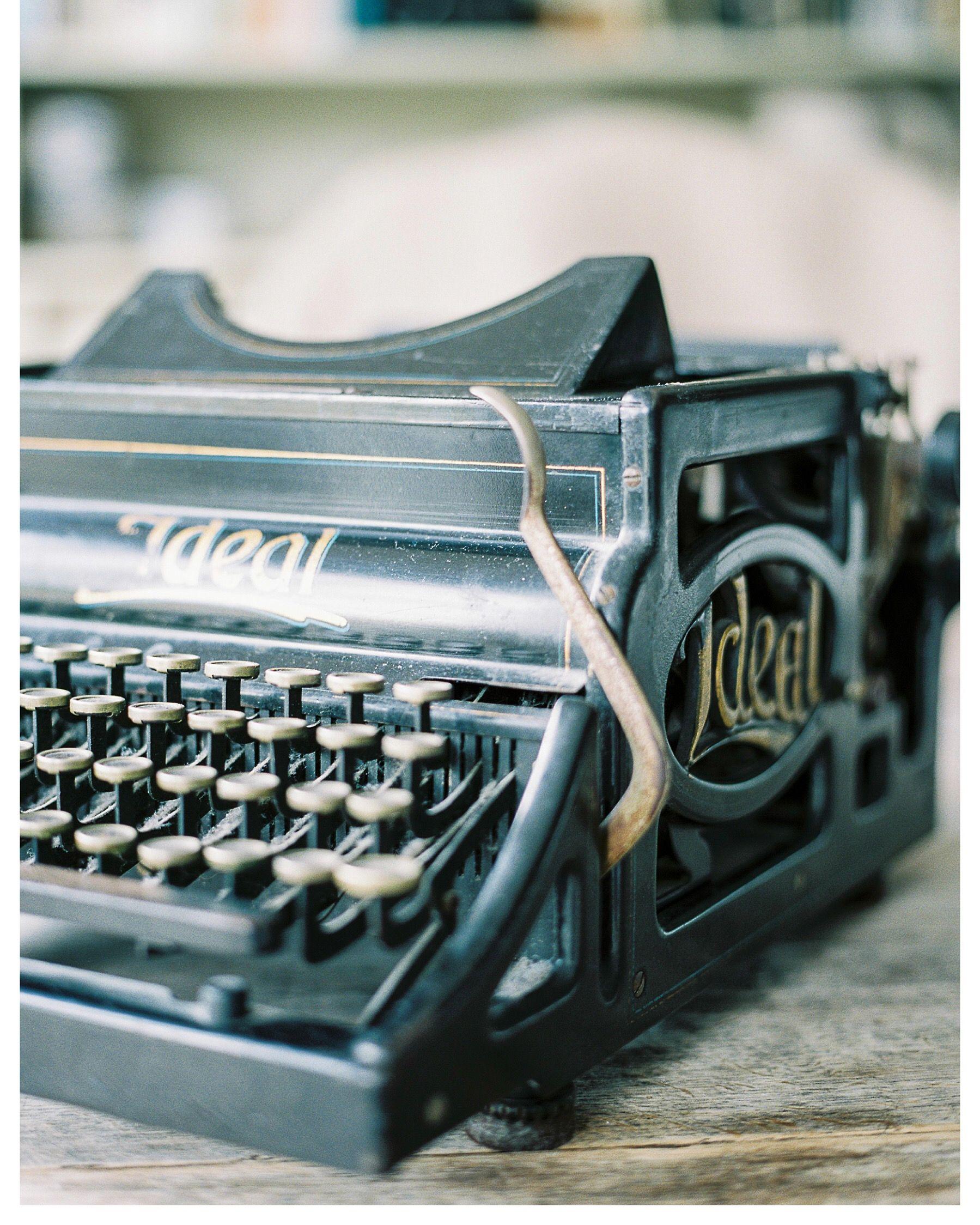 Old typewriter on Fuji