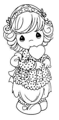 Pin By Any Del Valle On Cole Precious Moments Coloring Pages Heart Coloring Pages Coloring Pages